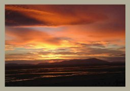 Sunset over Allonby Bay